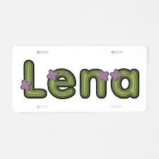 Lena Spring Green Aluminum License Plate