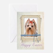 Yorkie Easter Card