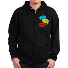Autism Awareness Cute Zip Hoodie