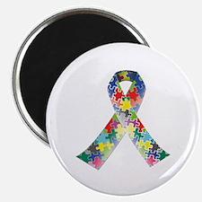 """Autism Awareness Ribbon 2.25"""" Magnet (10 pack)"""