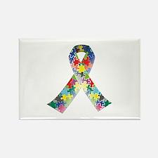 Autism Awareness Ribbon Rectangle Magnet
