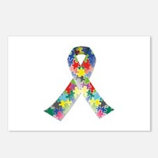 Autism Awareness Ribbon Postcards (Package of 8)