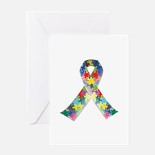 Autism Awareness Ribbon Greeting Card