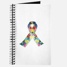 Autism Awareness Ribbon Journal