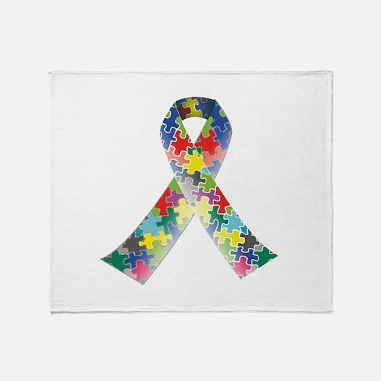 Autism Awareness Ribbon Stadium Blanket