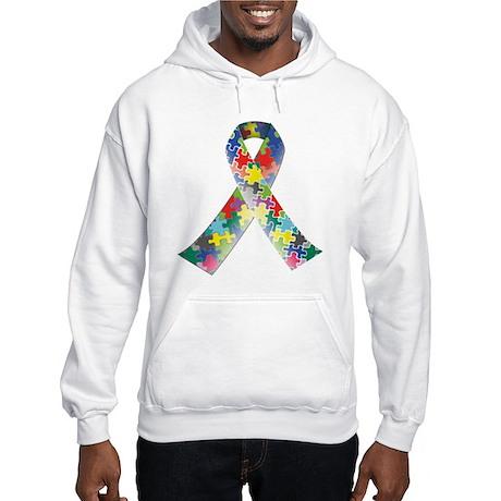Autism Awareness Ribbon Hooded Sweatshirt