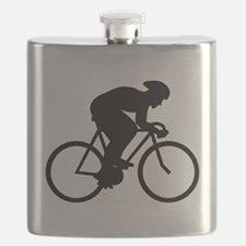 Cyclist Silhouette. Flask