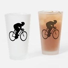 Cyclist Silhouette. Drinking Glass