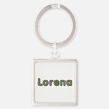 Lorena Spring Green Square Keychain