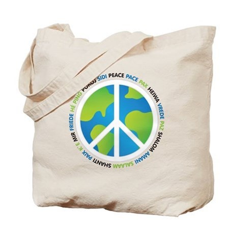 World Peace Sign Tote Bag