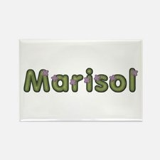 Marisol Spring Green Rectangle Magnet