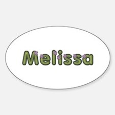 Melissa Spring Green Oval Decal