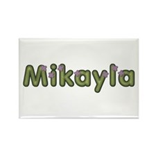 Mikayla Spring Green Rectangle Magnet