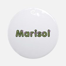 Marisol Spring Green Round Ornament