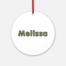 Melissa Spring Green Round Ornament