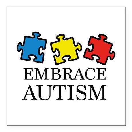 """Embrace Autism Square Car Magnet 3"""" x 3"""""""