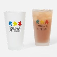 Embrace Autism Drinking Glass