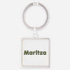 Maritza Spring Green Square Keychain