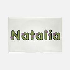 Natalia Spring Green Rectangle Magnet