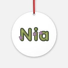 Nia Spring Green Round Ornament