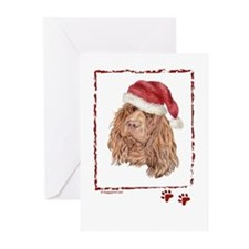 Merry Christmas Sussex Spaniel Greeting Cards