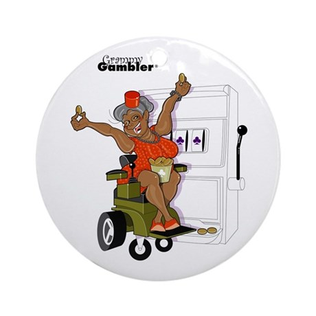 Grammy Gambler Kids Ornament (Round)