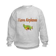 I Love Airplanes Sweatshirt