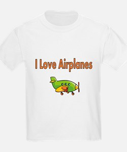 I Love Airplanes T-Shirt