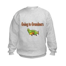 Going to Grandmas with Airplane Sweatshirt