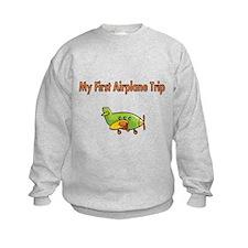 My First Airplane Trip Sweatshirt