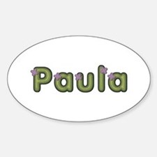 Paula Spring Green Oval Decal