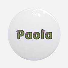 Paola Spring Green Round Ornament