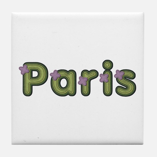 Paris Spring Green Tile Coaster