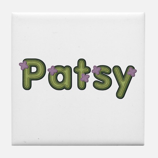 Patsy Spring Green Tile Coaster