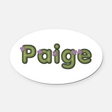 Paige Spring Green Oval Car Magnet