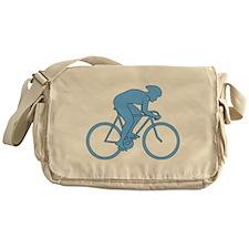 Cycling Design in Blue. Messenger Bag