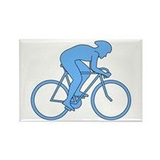 Cycling Design in Blue. Rectangle Magnet