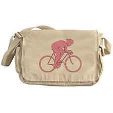 Cycling Design in Pink. Messenger Bag