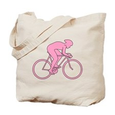 Cycling Design in Pink. Tote Bag