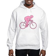 Cycling Design in Pink. Hoodie