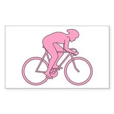 Cycling Design in Pink. Decal