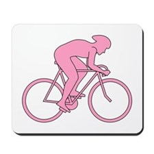 Cycling Design in Pink. Mousepad