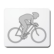 Cycling Design in Gray. Mousepad