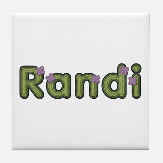 Randi Spring Green Tile Coaster