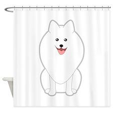 Dog. Spitz or Pomeranian. Shower Curtain