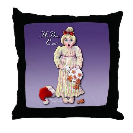 Santa Does Exist Art Throw Pillow