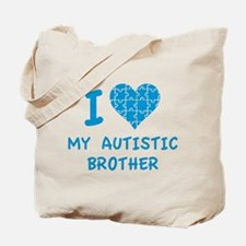 I Love My Autistic Brother Tote Bag