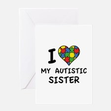 I Love My Autistic Sister Greeting Card
