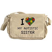 I Love My Autistic Sister Messenger Bag