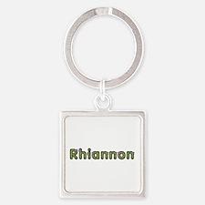 Rhiannon Spring Green Square Keychain